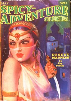 HUGH JOSEPH WARD - art for Desert Madness by Tay Philips - May 1935 Spicy-Adventure Stores