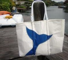 Sea Bag's Large Whale Tail Tote from @Cottage Coastal & Kim