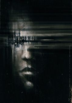 Digital Art by Jarek Kubicki Photoshop, Cyberpunk, Street Art, Art For Art Sake, My Tumblr, Portrait Art, Portraits, Dark Art, Sculpture Art