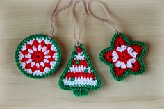 New Pattern ~ Crochet Christmas Ornaments