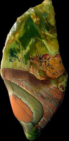 This gorgeous piece of Jasper shows natural beauty at its finest. (via Rare Rocks and Gems)