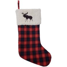 St. Nicholas Square® 21-in. Sherpa Fleece Plaid Christmas Stocking ($12) ❤ liked on Polyvore featuring home, home decor, holiday decorations, multicolor, colorful home decor, plaid home decor, embroidered christmas stockings, rustic home decor and st nicholas square christmas stockings