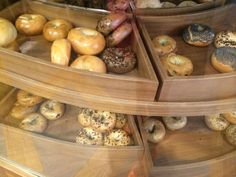 All the bagel flavours on offer at 5 & Dime Pretty Good, Bagel, Melbourne, Cool Stuff, Eat, Food, Gourmet, Essen, Meals