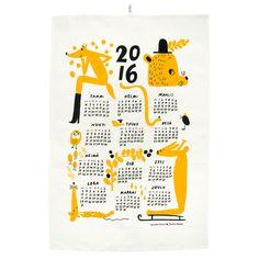 Calendar tea towel orange, by Kauniste. Lettering Design, Branding Design, Desk Calender, Placemat Design, New Year Calendar, Space Illustration, Calendar Design, Photoshop Design, Nordic Design
