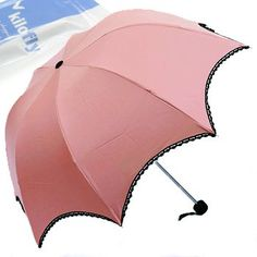 kilofly Arched Folding Parasol Umbrella with Black Lace Trimming, UPF 40+, Pretty in Pink KF Umbrella,http://www.amazon.com/dp/B009EK2T42/ref=cm_sw_r_pi_dp_u5Irtb16J2B10YCE