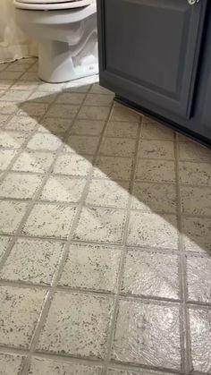 Painting Ceramic Tile Floor, Painting Bathroom Tiles, Small Bathroom Paint, Tile Floor Diy, Painting Tile Floors, Bathroom Floor Tiles, Paint Tiles, Painted Kitchen Floors, Painted Floors