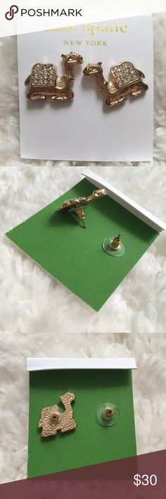 ♠️Kate Spade Camel Stud Earrings  Beautiful Kate Spade Camel Stud Stud Earrings. Never worn- in original packaging. Last picture above shows a dime next to the earring to give you an idea of size. kate spade Jewelry Earrings
