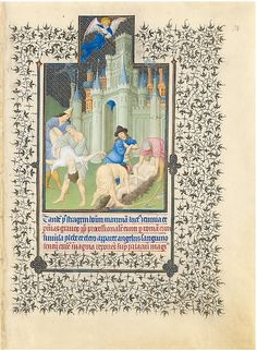 """The Belles Heures of Jean de France, Duc de Berry (image 38) 