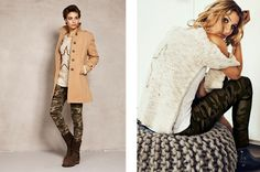 Camo pants with a chunky neutral colored sweater- classy with that edge. |YAYA-LOOKBOOK-13W2-6|