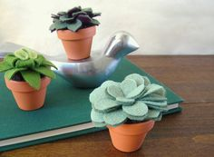 plants you can't kill! Potted Felt Succulent // Sage Green // Small by OrdinaryMommy, $30.00