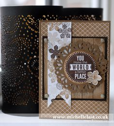 Handmade card using Stampin Up Petite Petals stamps by Michelle Last