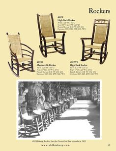 Old Hickory Furniture, of Today....Rockers