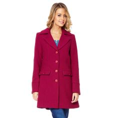 BETHAN - Semi-fitted Colour Block Coat - Coats & Jackets from Ness Clothing