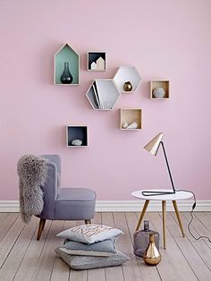 #shelving Get inspired by #Easter for your home decor with soft colors and a sense of whimsy | KUKUN
