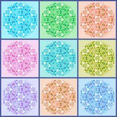 Pastel Circle Collage: Medium (144 pieces)
