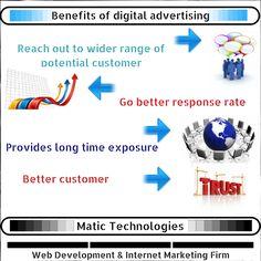 Benefits of #digitaladvertising #brandawareness #internetmarketing
