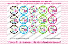 Instant Download  i was born to wear big by BottleCapImagesCass
