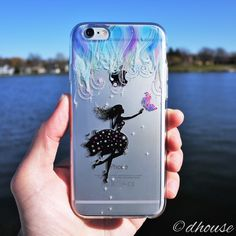 MADE IN JAPAN Soft Clear TPU Case Forest Fairy blue for iPhone 6 & iPhone 6s