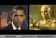Barack Obama Totally Looks Like Apophis (Stargate SG-1)