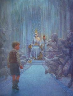 Christian Birmingham Illustration | Narnia. Edmund at the White Witch's castle.