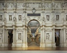 and My favorite place in the whole world. Vicenza Italy. This is the Teatro Olimpico.