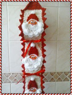 Simone Pinturas & Crochês: Porta-papel higiênico de Papai Noel