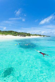 Paradisical beaches, Panari Island (Aragusuku Island), Yaeyama Island group, Okinawa, Japan