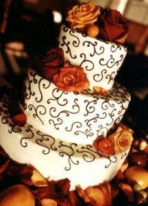 Pretty Fall Wedding Cake
