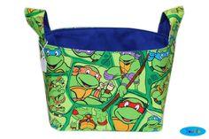 NEW Teenage Mutant Ninja Turtles Storage Bin  TMNT Desk by SewFlo, $20.99