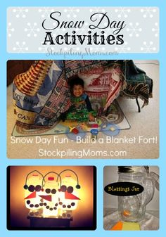 Looking for some Snow Day Activities to do with the kids?  Look no further!