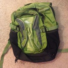 Green backpack High Sierra backpack. Shows heavy signs of use, but still functional. Make an offer. Bags Backpacks