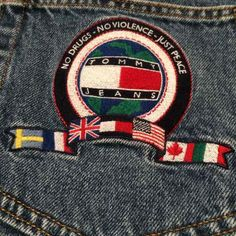 $225 90's TH denim jeans {NO DRUGS NO VIOLENCE JUST PEACE} HTF SUPER RARE TOMMY HILFIGER COLOR BLOCK FLAG LOGO DARE ANTI GANG /WAR /WORLD PEACE HIP HOP STYLE FASHION SHIRT JACKET JEANS WINDBREAKER & MORE FOR SALE ON REEDS❤️ MERCARI Shopping app! Better than eBay & poshmark download today! FOLLOW ME TO GET 1st pic at all my vintage items! SUPER RARE Vintage T… ($225) is on sale on Mercari, check it out! https://item.mercari.com/gl/m275292385/