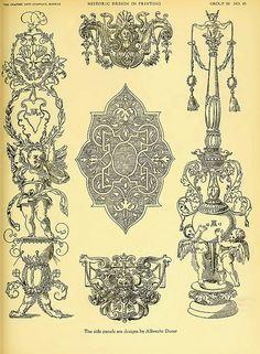 16- Estos motivos se cree fueron diseñados por Durero