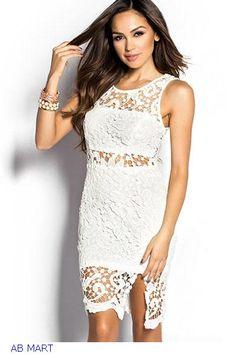 Summer dress 2015 Women verao vestido branco renda White/Black Sheer Cut Out Crochet Lace Sheath bohemian Mini Dresses LC21769