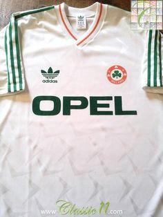 75fc33929 Relive Republic of Ireland s 1990 1991 international season with this  original Umbro away football shirt