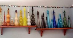 Italian empoli glass decanters, via Flickr.
