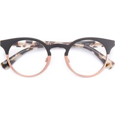Valentino Eyewear bicolour frame glasses (20.990 RUB) ❤ liked on Polyvore featuring accessories, eyewear, eyeglasses, glasses, black, tortoise eye glasses, tortoise eyeglasses, tortoiseshell eyeglasses, tortoise shell eyeglasses and tortoise shell eyewear