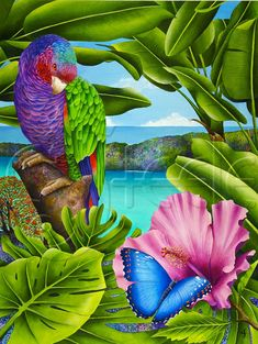 Carolyn Steele tropical art print Caribbean by WaterlemonMoon