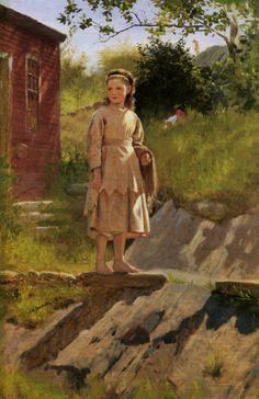 Young Girl :: John George Brown - Portraits of young girls in art and painting