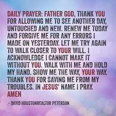 Daily prayers on pinterest daily prayer daily devotional and father
