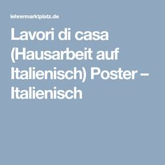 74 best Italienisch Unterrichtsmaterialien images on Pinterest ...
