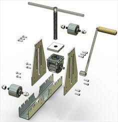 Imagini pentru roladora de tubos casera