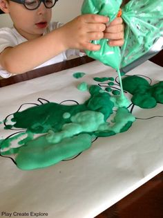 Shaving cream with colouring food
