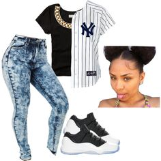 NY Yankees ♡ by prettygirlnunu on Polyvore featuring Abercrombie & Fitch and Club Manhattan