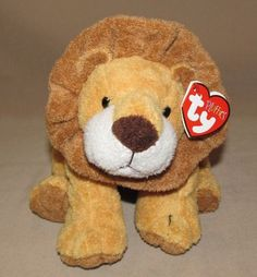 Ty Pluffies Catnap Tan Brown Lion Plush Beanie Toy Stuffed Animal Cat Nap 2002…
