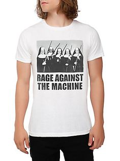 Rage Against The Machine Nuns With Guns T-Shirt, BLACK