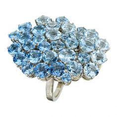 Blue topaz ring by H. Stern