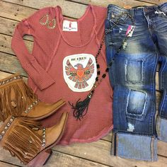 """""""We are in love with our newest arrivals!  Be free tee- $49.99 (XS-L) Dear John distressed denim- $84.99 (26-32) running big! Liberty booties- $299.99 (6, 6.5, 7.5, 9, 9.5) Pink Panache necklace- $76.99 Pink Panache earrings- $28.99 We ship! Call to order! 903.322.4316 #shopdcs #goshopdcs #shoplocal #love #freespirit #libertyblackboots #pinkpanache #dearjohn"""" Photo taken by @daviscountrystore on Instagram, pinned via the InstaPin iOS App! http://www.instapinapp.com (01/28/2016)"""