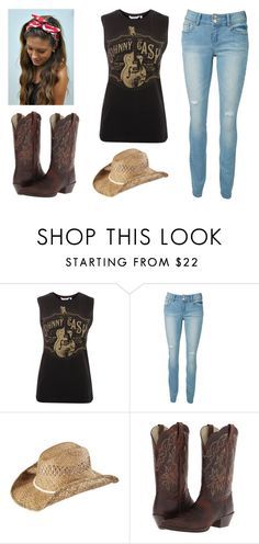 """""""Tailgate Circle"""" by jwpixie ❤ liked on Polyvore featuring KENNY, Ariat and Masquerade"""