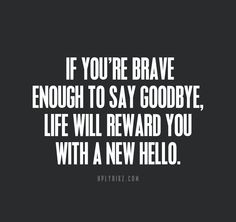 I love this. This is really sweet. Those who are brave enough to say goodbye, I salute you, because that is the thing that I struggle with the most...